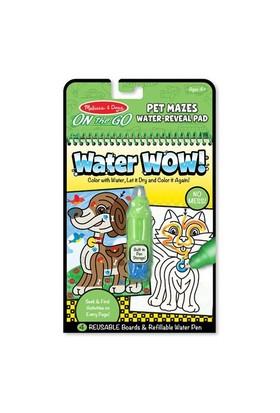 Melissa & Doug Water Wow Su İle Boyama Kitabı Evcil Hayvanlar Bulmaca