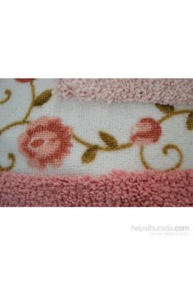 Giz Home Gül Klozet Takımı 3Lü Pink Çift Renk