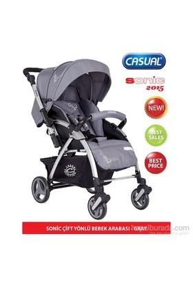 Casual Sonic Çift Yönlü Bebek Arabası 2015 Sezon / Gri
