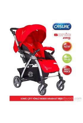 Casual Sonic Çift Yönlü Bebek Arabası 2015 Sezon / Kırmızı