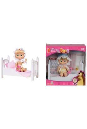 Engin Oyuncak Bebek Set Masha Yataklı/Emzikli