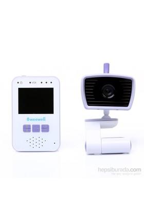 """Weewell WMV812 Dijital Bebek İzleme Cihazı – Kablosuz 300m – Oto. Gece Gör. – 2,40"""" LCD – Li-Ion Pil"""