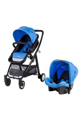 Prego 2088 Neon Travel Sistem Bebek Arabası - Mavi