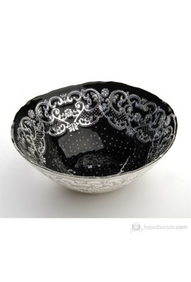 Fidex Home Siyah Gümüş Çerezlik 15cm