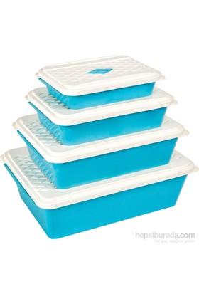 Bager Smartlıne Saklama Kabı 4' Lü Set - Mavi