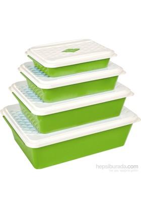 Bager Smartlıne Saklama Kabı 4' Lü Set - Yeşil