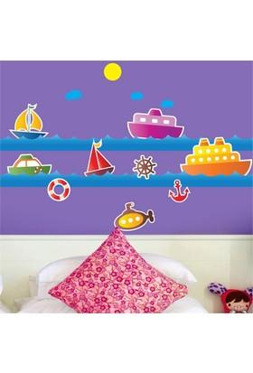 Modelce Deniz Taşıtları Çocuk Odası Sticker ve 2 adet Priz Sticker