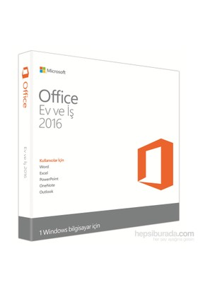 Microsoft Office Ev ve İş 2016 2016 32-bit/x64 Turkish Middle East EM DVD (T5D-02296)
