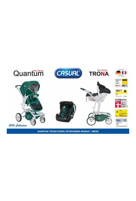 Casual Quantum Travel Sistem Bebek Arabası - Yeşil