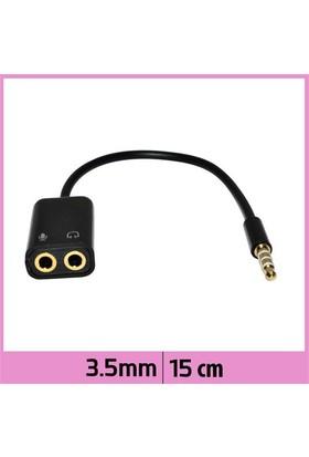Ti-Mesh 3.5Mm Stereo Trrs Audio M / Kulaklık / Mikrofon - Siyah - 15Cm