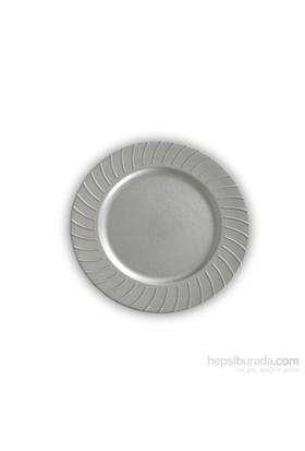 Kancaev Dekoratif Plastik Supla/Tabak Altlığı Güneş Model - Gümüş 6'Lı Set
