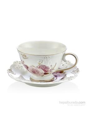 Noble Life Lila Dantel 6Lı Çay Seti