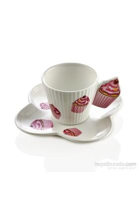 Noble Life Cupcake 6Lı Kahve Fincan Seti - 22562