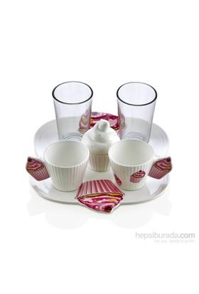 Noble Life Cupcake 6 Parça Kahve İkram Seti - 22593