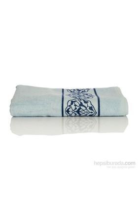 Yastıkminder Koton Mavi Lacivert Bordür Dokuma 135X70 Havlu