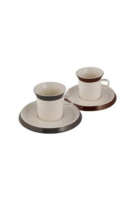 Emsan Elegance 12 Parça 6 Kişilik Kahve Fincan Takımı Kahverengi