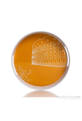 Roma Desen Yuvarlak Tepsi