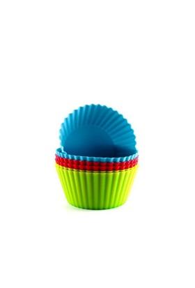 Twinz Silikon Renkli 6'Lı Muffin Ve Kek Kalıbı