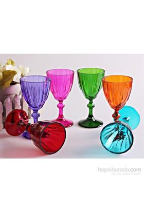 Mos'Ev Dıamond 6 Renkli 6'lı Ayaklı Kahve Yanı Su Bardağı