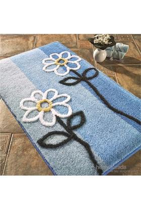 Confetti Sarissa 60x100 cm Pastel Mavi Banyo Halısı