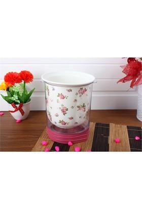 Acar Dekoremanya Porselen Çiçekli Kaşıklık Acr-4959