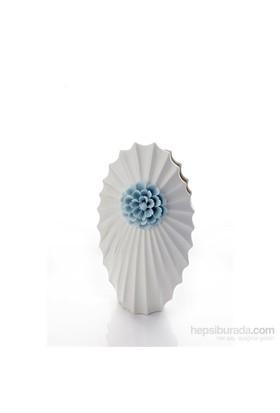 İnci Kabuğu Mavi Çiçekli