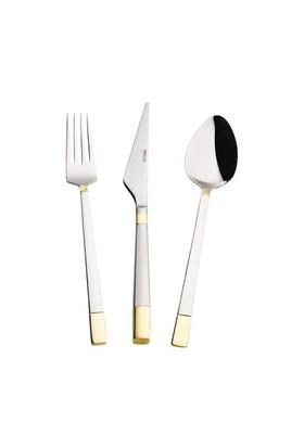 Emsan Duru Gold 84 Parça 12 Kişilik Çatal Kaşık Bıçak Takım - Deri Sandıklı