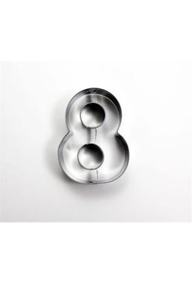 Toptansüs Sayı Kurabiye Kalıpları (8) Sayısı Kurabiye Kalıbı