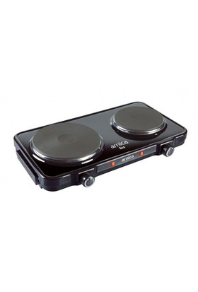 Arnica Duo GH25040 2500 W Çiftli Siyah Elektrikli Ocak