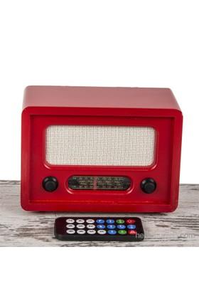 Mukko Home Nostaljik Radyo Kırmızı - Uzaktan Kumandalı