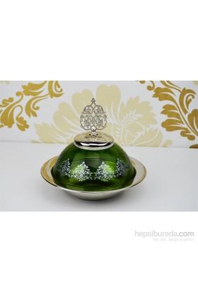 Cosiness Şehzade Cam Şekerlik - Yeşil