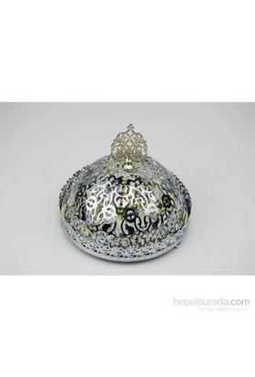 Cosiness Dantelli Gümüş Yaldız Aynalı Şekerlik
