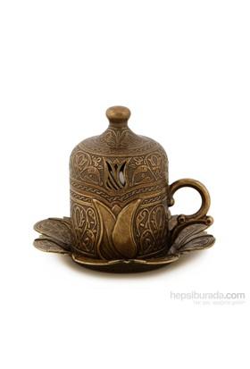 Sena Lalezar Kahve Fincanı Antik Sarı (6'Lı Paket)