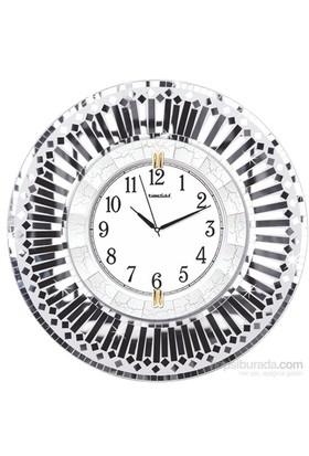 Silver Dekor Parça Aynalı Duvar Saati