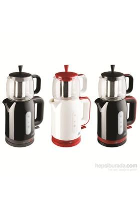 Blue House BH286TM Firuze Çay Makinesi Kırmızı-Siyah