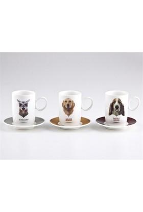 Biev Dogs 6 Kişilik Kahve Seti