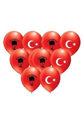 Pandoli 100 Lü Atatürk Ve Ayyıldız Baskılı Balon