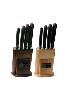 Sürmene Sürbısa 61503 Naturel Ahşap Standlı Mutfak Bıçak Seti 4 Lü
