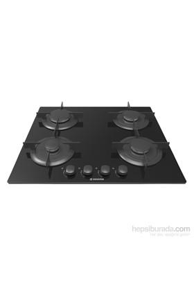 Hoover HGV 64 SB 4 Gözü Gazlı Siyah Cam Ankastre Ocak
