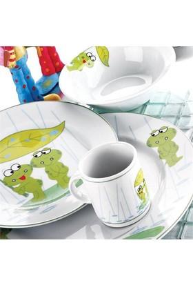 Kütahya Porselen 5 Parça Kurbağacık Mama Takımı