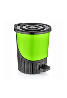 Dünya Plastik Pedallı Çöp Kovası 8Lt Yeşil