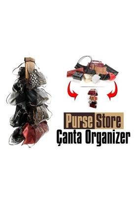 LoveQ Şeffaf Gözlü Dolap İçi Çanta Askısı Purse Store