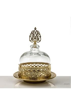 Mukko Home Osmanlı Cam Şekerlik-Altın