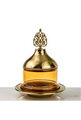 Mukko Home Osmanlı Cam Şekerlik-Altın Sarı