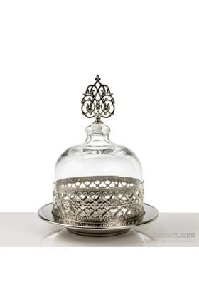 Mukko Home Osmanlı Cam Şekerlik-Gümüş