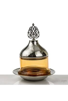 Mukko Home Osmanlı Cam Şekerlik-Gümüş Sarı
