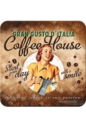 Coffee House Tekli Bardak Altlığı 9 x 9 cm