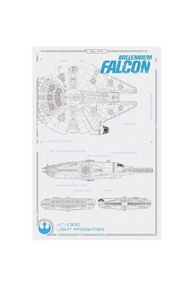 Pyramid International Maxi Poster - Star Wars Episode Vıı Millennium Falcon Plans