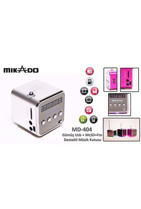 Mikado MD-404 Gümüş FM Radyo Destekli Müzik Kutusu