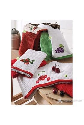 Taç 2'li Mutfak Havlu Seti Sweet Cherries